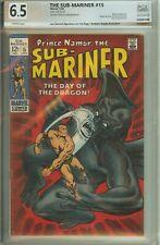 Autographed PGX (not CGC) 6.5 Namor Sub-Mariner #15 Signed Joe Sinnott