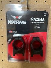Warne Maxima 201M 1 inch Medium Scope Rings Fixed Steel Matte Black - Pre Owned