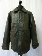 Men's Vintage Pall Mall Distressed Leather Chore Coat Cargo Jacket L 44R