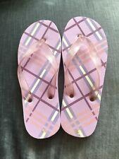 Ladies Purple Flip Flops Size 5