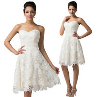 Lace Formal Evening Prom Party Ivory Dress Bridesmaid Dress Ball Gown Cocktail