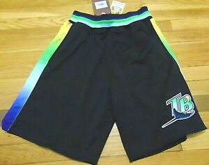 MITCHELL & NESS MLB COOPERSTOWN COLLECTION TAMPA BAY DEVIL RAYS SHORTS M $125
