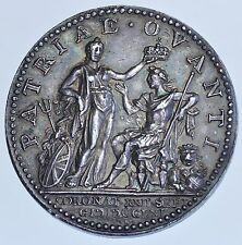 GEORGE III CORONATION 1761, THE OFFICIAL ISSUE, 34mm SILVER MEDAL BY L.NATTER