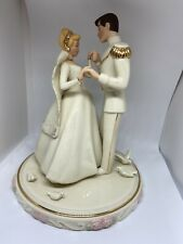 New ListingLenox Disney Cinderella's Wedding Day Cake Topper with Prince Charming Mint