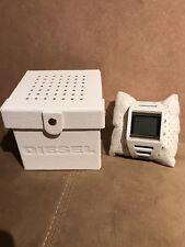 White DIESEL Digital Silicone Mens Watch DZ7224 NEW