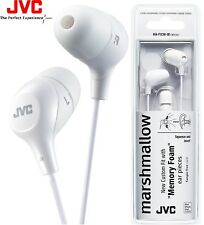 JVC HA-FX38-W WHITE Marshmallow In-Ear Tangle-Free Stereo Earphones / Brand New