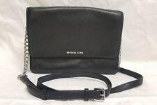 MICHAEL MICHAEL KORS Black Grained Leather Crossbody Retail $198