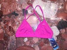 NWT SPEEDO Endurance Lite Triangle Tie Back Pink Swimsuit Bikini Top Women's XS