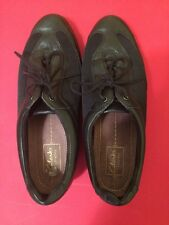 Women's Shoes Clarks Everyday Black Lace Up Flats Size 8.5 M