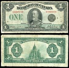 Canada 2 July 1923 1 Dollar Vg/F P-33o Dominion of Canada