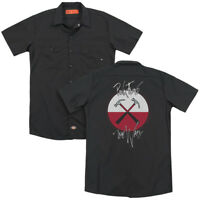 PINK FLOYD HAMMERS Licensed Adult Men's Dickies Graphic Band Work Shirt SM-3XL