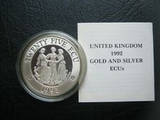 More details for united kingdom 1992 silver proof 25 ecu crown-size coin ~ three graces info card