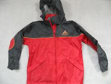 VAUDE leichte Regenjacke Wetterjacke grau rot Gr. 140 SE1019