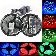 1-30M SMD 5050 Dimmable RGB LED Strip Lights Flexible Lighting 12V IR Adapter