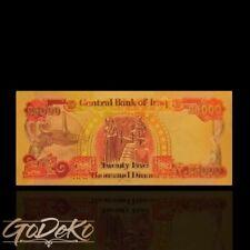 25000 Dinar Iraq Gold Banknote Iraki Geldschein Schein Note Goldfolie Karat