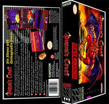 Demons Crest  - SNES Reproduction Art Case/Box No Game.