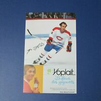 GUY LAFLEUR  YOPLAIT  promo  POSTCARD  '70 s  RARE  Montreal Canadiens 1976 1979