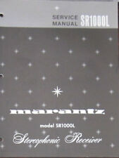 Marantz SR1000L receiver service repair workshop manual (original copy)