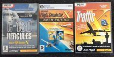 Microsoft Flight Simulator X Gold Edition + Traffic + C-130 Hercules Expansions