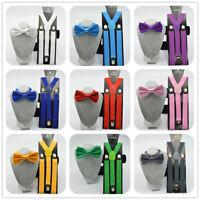 746|nœud papillon -Hommes bretelles-habillé-affaires-Mariage-Classique-Chemise