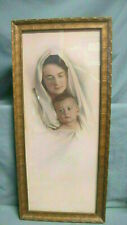 Vintage Beautiful Print of Mother and Child Framed By  H TH Reed?