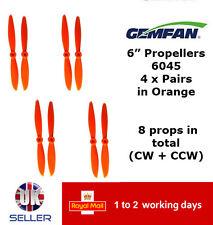 "Gemfan Propellers Props 6"" 6045 x8 4 Pairs Orange QAV 250 Racer FPV Emax ZMR UK"