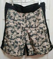 Mens Camo Board Shorts size 34 Extreme Combat Training Swim Trunks Soffe XT46