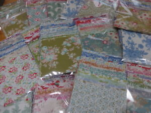 TILDA CHARM PACKS- 24  4. 5 INCH SQUARES CHOICE OF COLOURS 100% QUILTING COTTON