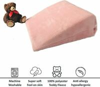 New Large Teddy Fleece Bed Wedge Pillowcase Replacement Cover Super Soft Plush