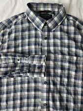 Mens Banana Republic Lightweight Flannel Button Front LS Shirt Plaid MED