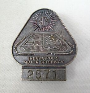1974 Indianapolis 500 Silver Pit Badge Johnny Rutherford Team McLaren