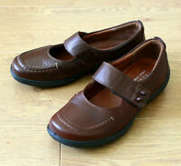 Hotter STARSHINE Ladies Mary Jane Brown Leather Shoes Size UK 5.5 ODD Colour