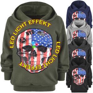 Kapuzen Pullover Jungen Kinder Hoodie Sweater Totenkopf Skull USA 30177