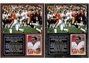 Dexter Manley #72 Washington Redskins Photo Card Plaque