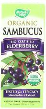 Nature's Way Organic Sambucus Elderberry Syrup, 4 oz