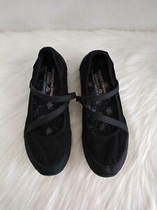 Skechers Women's Shoes Mary Jane Classic Fit Sz 7.5 Air Cooled Memory Foam Black