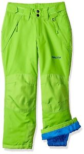 Arctix Youth Snow Pants with Reinforced Knees and Seat Lime Green Size XS