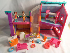 2002 Origin Products Polly Pocket Magnetic Elevator Doll House w/ Accessories