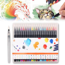 20 Colors Sketch Marker Watercolor Painting Pen Set Engaging Soft Water Brush