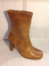 Oasis Brown Ankle Leather Boots Size 40