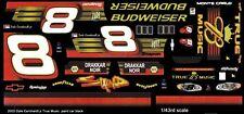 #8 Dale Earnhardt jr True Music 2003 1/43rd Scale Slot Car Waterslide Decals