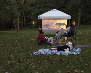 Ozark Trail Versatile Shade Wall Projector Screen, 16:9 Aspect Ratio, 100 in.