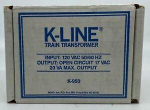 K-Line K950 20 VA Train Transformer LN/Box