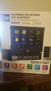 """7"""" MOTORIZED TOUCHSCREEN MULTIMEDIA DVD RECEIVER WITH BLUETOOTH  BY DUAL"""
