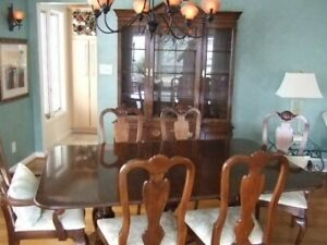 F43887EC Set of 6 DREXEL HERITAGE Chinoiserie Decorated Dining Room Chairs