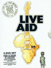 Live Aid & Live 8 DVD 4 Disc Box Sets Booklets 1985 Anniversary 2005 Like New
