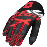 GUANTI GLOVES MOTO ENDURO CROSS MX SCOTT 450 PATCHWORK NERO ROSSO  TG M