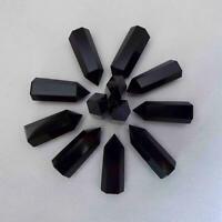 10Pcs 4-5cm Natural Black Obsidian Stone Quartz Crystal Point Wand Healing Reiki