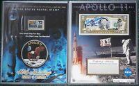 Buzz Aldrin hand signed Apollo 11 NASA moonwalker Astronaut  2 Dollar bill set
