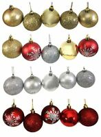 4 Boxes of Baubles Christmas Decor Festive Tree Hanging Xmas Snowflake Ornament